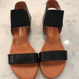 Rebecca Minkoff Black Leather Sandals